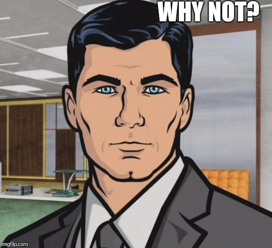 Archer Meme | WHY NOT? | image tagged in memes,archer | made w/ Imgflip meme maker