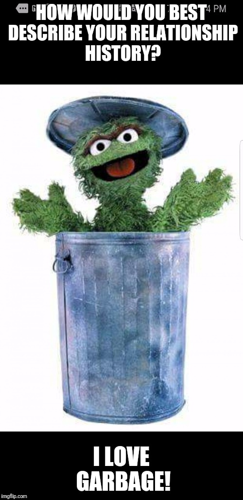 Trash Rain And Bertstrips Oscar The Grouch Is Always Fascinated When Fills