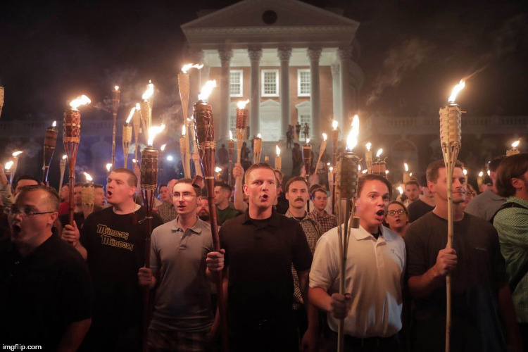 White Supremacists in Charlottesville | image tagged in white people,white supremacy,rally,torch,duckface | made w/ Imgflip meme maker