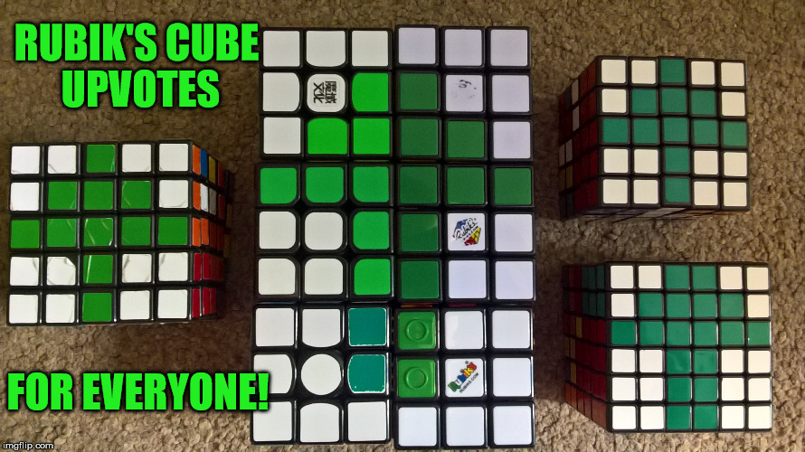 Rubik's Cube mosaic . . . upvotes! A TigerLegend1046 special | RUBIK'S CUBE UPVOTES FOR EVERYONE! | image tagged in rubik's cube,tigerlegend1046,mosaic,upvotes,special | made w/ Imgflip meme maker