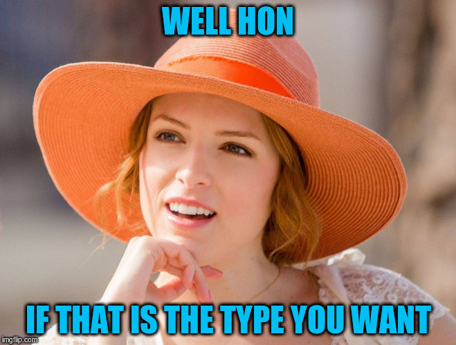 WELL HON IF THAT IS THE TYPE YOU WANT | made w/ Imgflip meme maker
