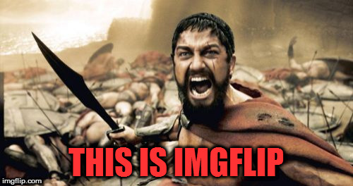 Sparta Leonidas Meme | THIS IS IMGFLIP | image tagged in memes,sparta leonidas | made w/ Imgflip meme maker