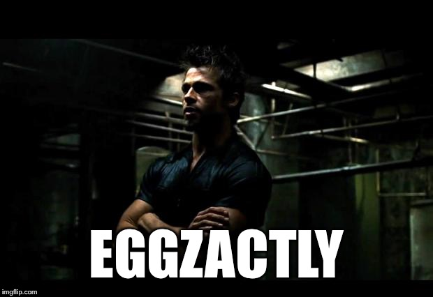 EGGZACTLY | made w/ Imgflip meme maker
