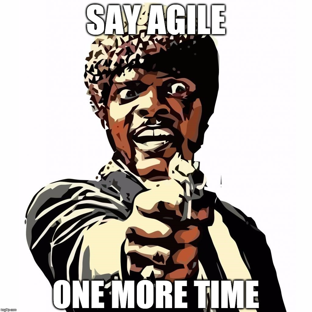 SAY AGILE ONE MORE TIME | SAY AGILE ONE MORE TIME | image tagged in say agile one more time,agile,scrum,programming,programmers | made w/ Imgflip meme maker