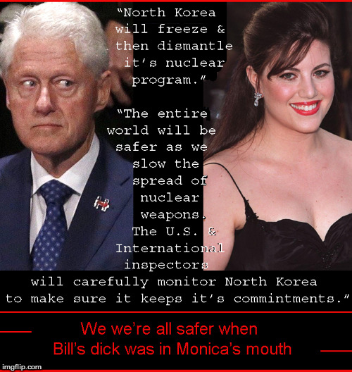"We were safer when Bill was ""busy"" doing other things but politics 