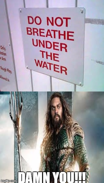 You have earned the wrath of Aqua Man!  | DAMN YOU!!! | image tagged in aquaman,justice league,water,memes | made w/ Imgflip meme maker