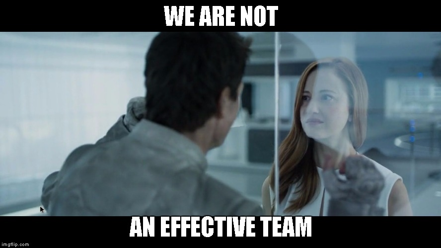 WE ARE NOT AN EFFECTIVE TEAM | image tagged in not effective | made w/ Imgflip meme maker