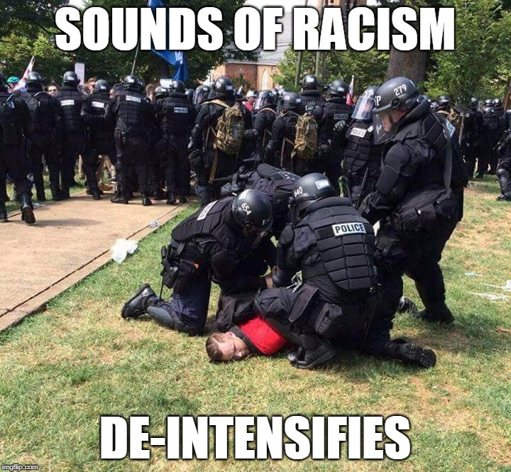 Poor Dick. | SOUNDS OF RACISM DE-INTENSIFIES | image tagged in charlottesville,richard spencer | made w/ Imgflip meme maker