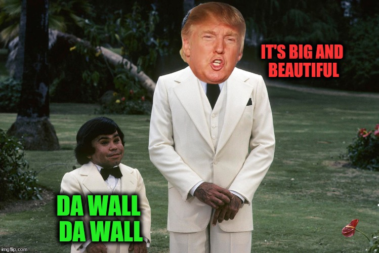 Fantasy White house | IT'S BIG AND BEAUTIFUL DA WALL DA WALL | image tagged in memes,trumps fantasy wall | made w/ Imgflip meme maker