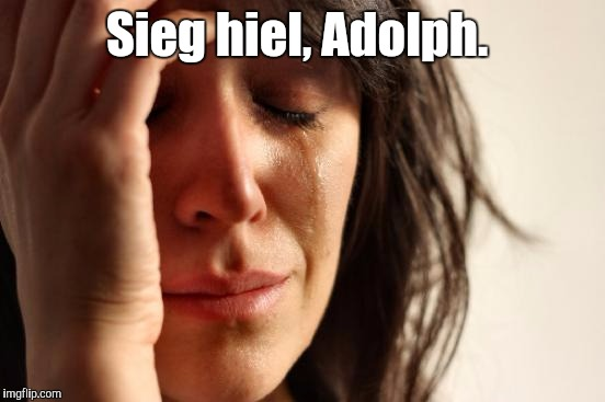 First World Problems Meme | Sieg hiel, Adolph. | image tagged in memes,first world problems | made w/ Imgflip meme maker