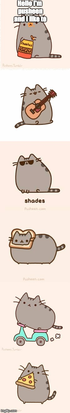 Pusheen means kitten in irish who knew? besides the lucky charms guy | Hello I'm pusheen and I like to | image tagged in pusheen,cat,bad luck brian,batman slapping robin,toaster,illuminati is watching | made w/ Imgflip meme maker