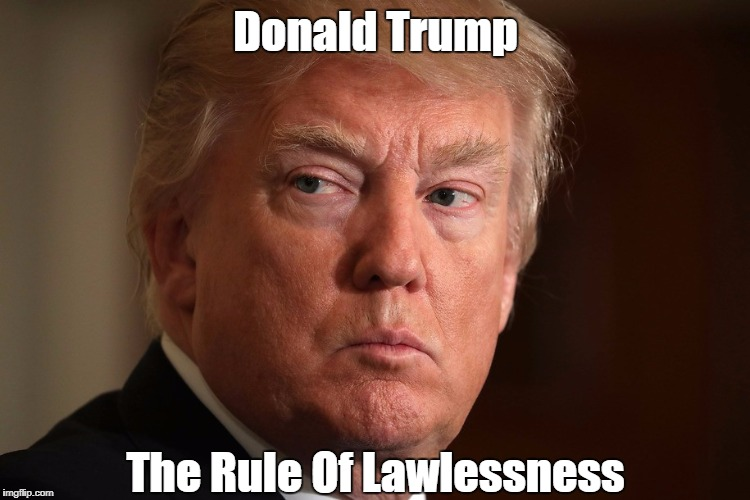 """Donald Trump And The Rule Of Lawlessness"" 
