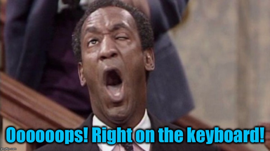 Oooooops! Right on the keyboard! | made w/ Imgflip meme maker