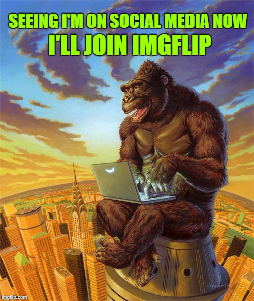 I'LL JOIN IMGFLIP SEEING I'M ON SOCIAL MEDIA NOW | made w/ Imgflip meme maker