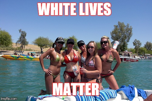 WHITE LIVES MATTER | image tagged in lake havasu | made w/ Imgflip meme maker