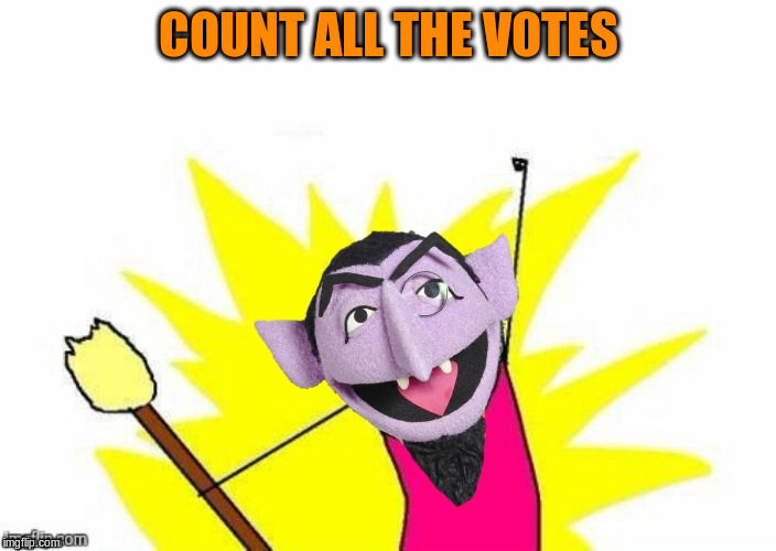 COUNT ALL THE VOTES | made w/ Imgflip meme maker