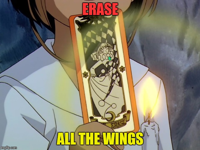 ERASE ALL THE WINGS | made w/ Imgflip meme maker