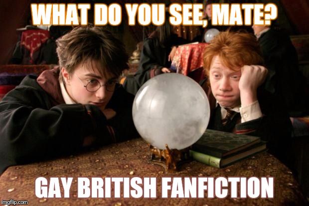 WHAT DO YOU SEE, MATE? GAY BRITISH FANFICTION | made w/ Imgflip meme maker