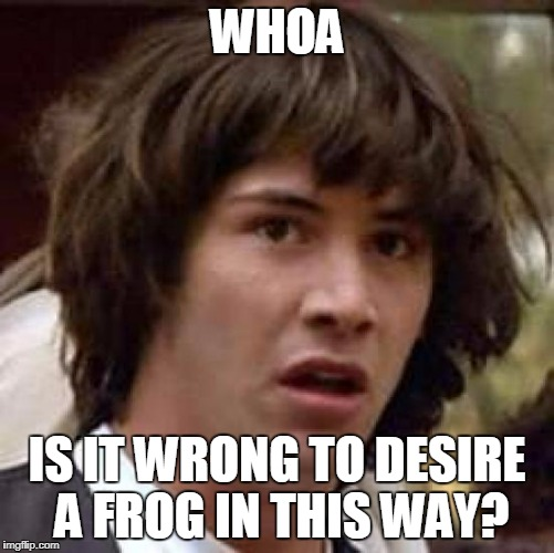 Conspiracy Keanu Meme | WHOA IS IT WRONG TO DESIRE A FROG IN THIS WAY? | image tagged in memes,conspiracy keanu | made w/ Imgflip meme maker