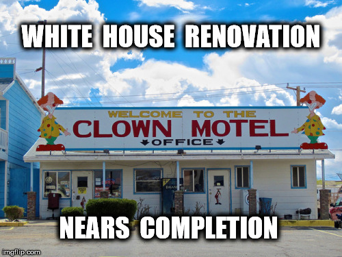 Alt White House | WHITE  HOUSE  RENOVATION NEARS  COMPLETION | image tagged in donald trump,memes,funny,funny memes,politics | made w/ Imgflip meme maker