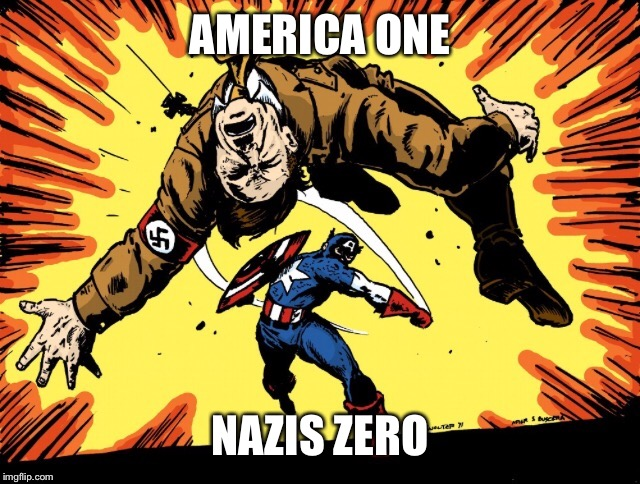AMERICA ONE NAZIS ZERO | made w/ Imgflip meme maker