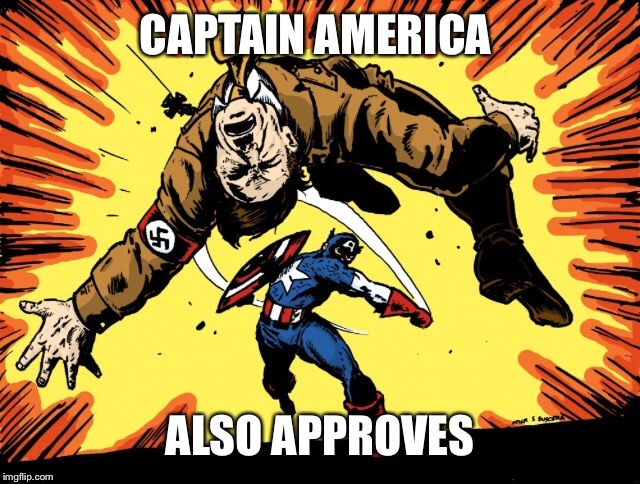 CAPTAIN AMERICA ALSO APPROVES | made w/ Imgflip meme maker