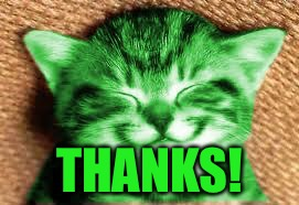 happy RayCat | THANKS! | image tagged in happy raycat | made w/ Imgflip meme maker