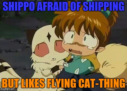SHIPPO AFRAID OF SHIPPING BUT LIKES FLYING CAT-THING | made w/ Imgflip meme maker