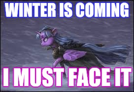 WINTER IS COMING I MUST FACE IT | made w/ Imgflip meme maker