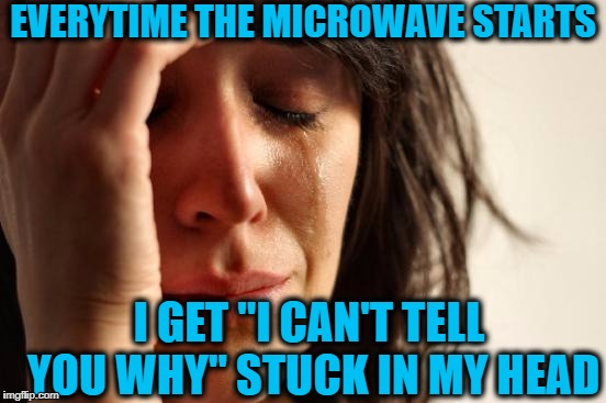 "That damm first note of the song is attached to me for the rest of the day! | EVERYTIME THE MICROWAVE STARTS I GET ""I CAN'T TELL YOU WHY"" STUCK IN MY HEAD 
