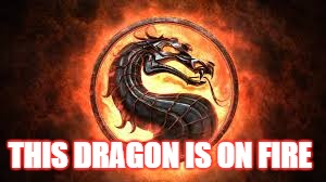 THIS DRAGON IS ON FIRE | image tagged in mortal kombat | made w/ Imgflip meme maker