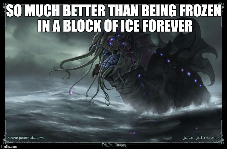 SO MUCH BETTER THAN BEING FROZEN IN A BLOCK OF ICE FOREVER | made w/ Imgflip meme maker