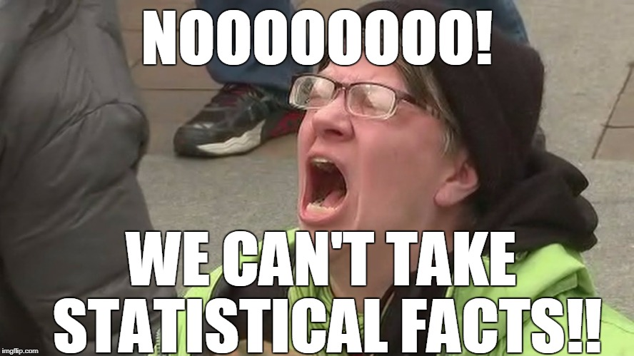 Noooo | NOOOOOOOO! WE CAN'T TAKE STATISTICAL FACTS!! | image tagged in noooo | made w/ Imgflip meme maker