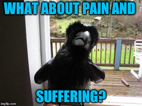 WHAT ABOUT PAIN AND SUFFERING? | made w/ Imgflip meme maker
