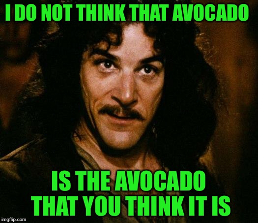 I DO NOT THINK THAT AVOCADO IS THE AVOCADO THAT YOU THINK IT IS | made w/ Imgflip meme maker