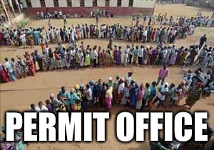 PERMIT OFFICE | made w/ Imgflip meme maker