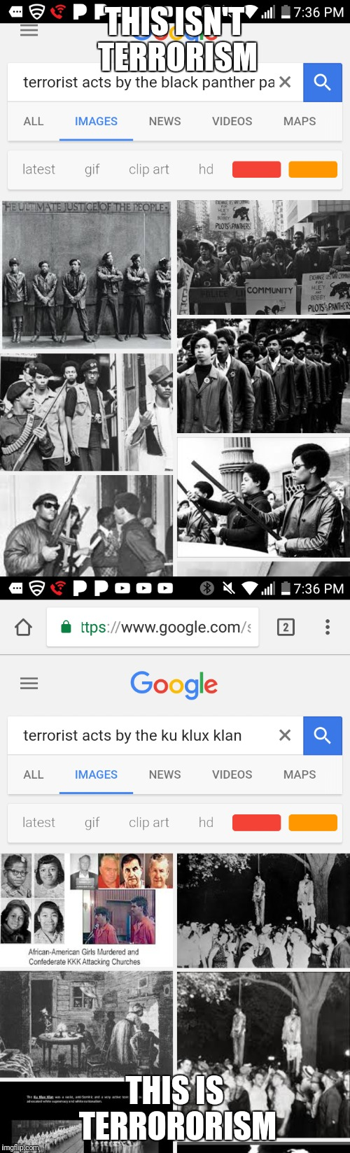 THIS ISN'T TERRORISM THIS IS TERRORORISM | image tagged in terrorism,racism,donald trump,f,kkk,black panther | made w/ Imgflip meme maker