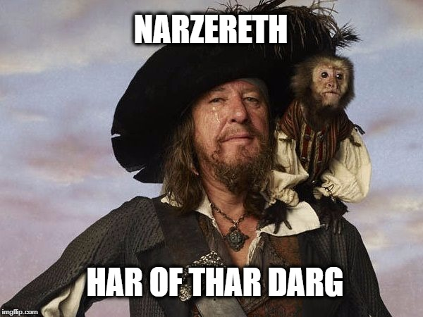 Yar! | NARZERETH HAR OF THAR DARG | image tagged in heavy metal,loud music,nazereth,hair of the dog,arrrg | made w/ Imgflip meme maker