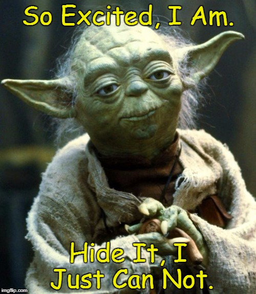 Star Wars Yoda | So Excited, I Am. Hide It, I Just Can Not. | image tagged in memes,star wars yoda,yoda lyrics,the pointer sisters | made w/ Imgflip meme maker