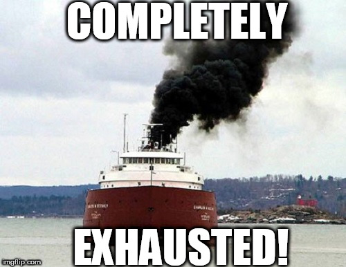 COMPLETELY EXHAUSTED! | made w/ Imgflip meme maker