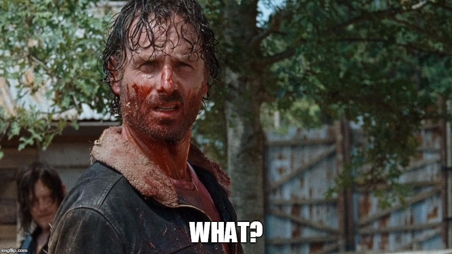 What? | WHAT? | image tagged in what,the walking dead rick grimes | made w/ Imgflip meme maker