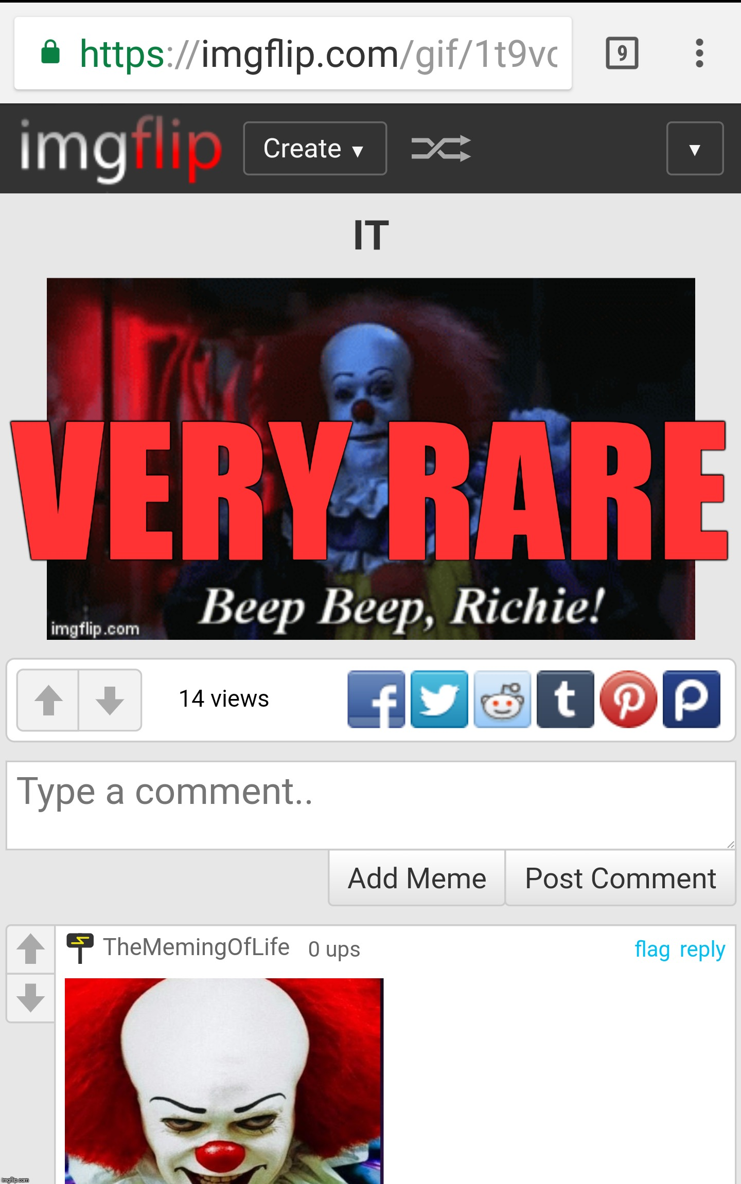 VERY RARE | made w/ Imgflip meme maker