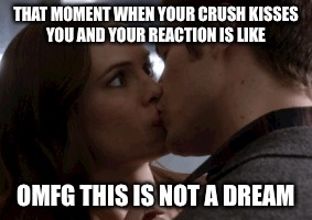 THAT MOMENT WHEN YOUR CRUSH KISSES YOU AND YOUR REACTION IS LIKE OMFG THIS IS NOT A DREAM | image tagged in the flash | made w/ Imgflip meme maker
