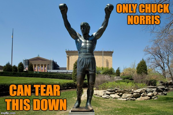 ONLY CHUCK NORRIS CAN TEAR THIS DOWN | made w/ Imgflip meme maker