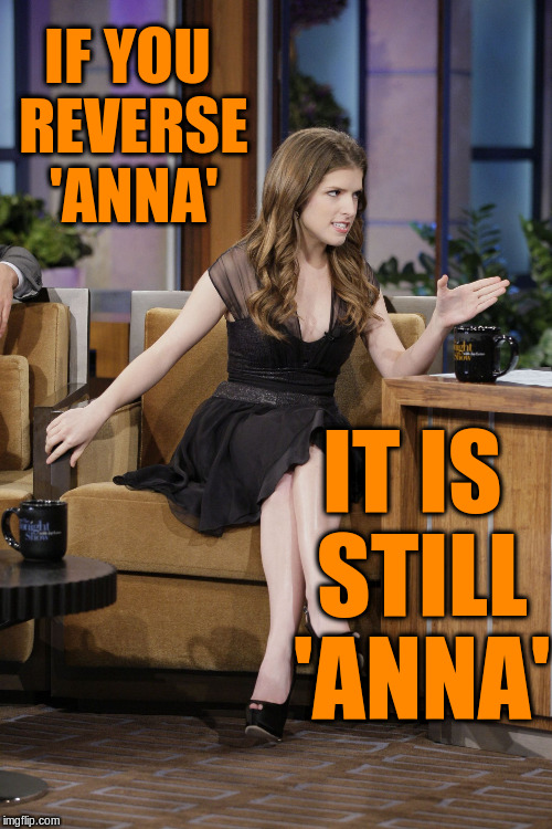 IF YOU REVERSE 'ANNA' IT IS STILL 'ANNA' | made w/ Imgflip meme maker