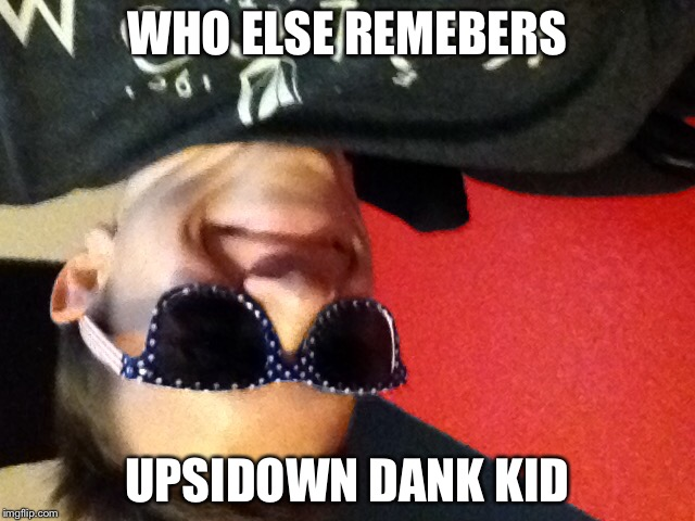 This was my favriot meme | WHO ELSE REMEBERS UPSIDOWN DANK KID | image tagged in funny memes,dankkid,upside down | made w/ Imgflip meme maker