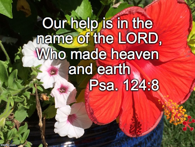 Our help is in the name of the LORD, Who made heaven and earth Psa. 124:8 | image tagged in name | made w/ Imgflip meme maker