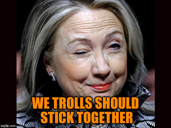 WE TROLLS SHOULD STICK TOGETHER | made w/ Imgflip meme maker