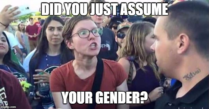 DID YOU JUST ASSUME YOUR GENDER? | made w/ Imgflip meme maker