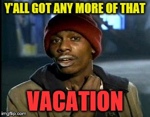 Y'all Got Any More Of That Meme | Y'ALL GOT ANY MORE OF THAT VACATION | image tagged in memes,yall got any more of | made w/ Imgflip meme maker
